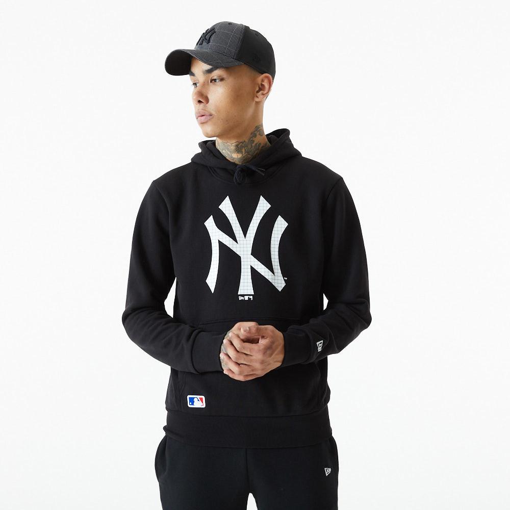 New York Yankees – Hoodie in Schwarz mit gefülltem Logo