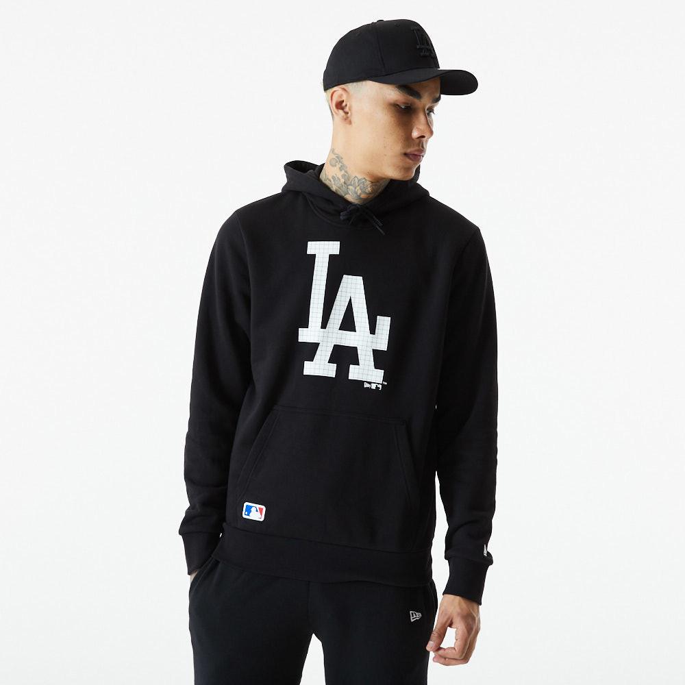 Felpa con cappuccio LA Dodgers City in tessuto mimetico nera