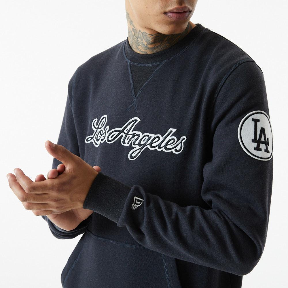 Felpa MLB Heritage Los Angeles Dodgers grigio scuro
