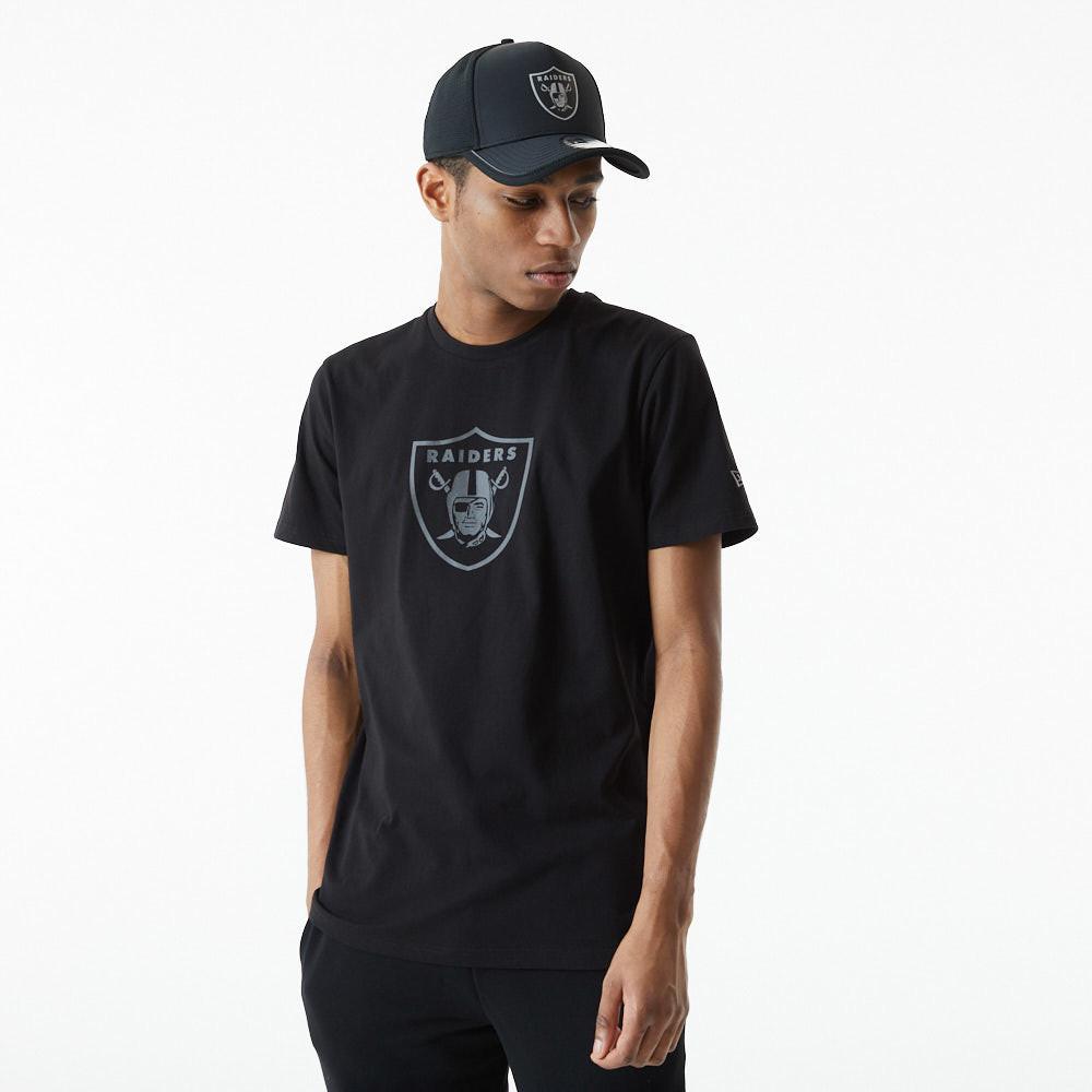 Las Vegas Raiders Reflective Print Black T-Shirt