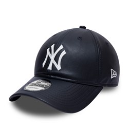 New York Yankees Synthetic Leather Navy 9FORTY Cap