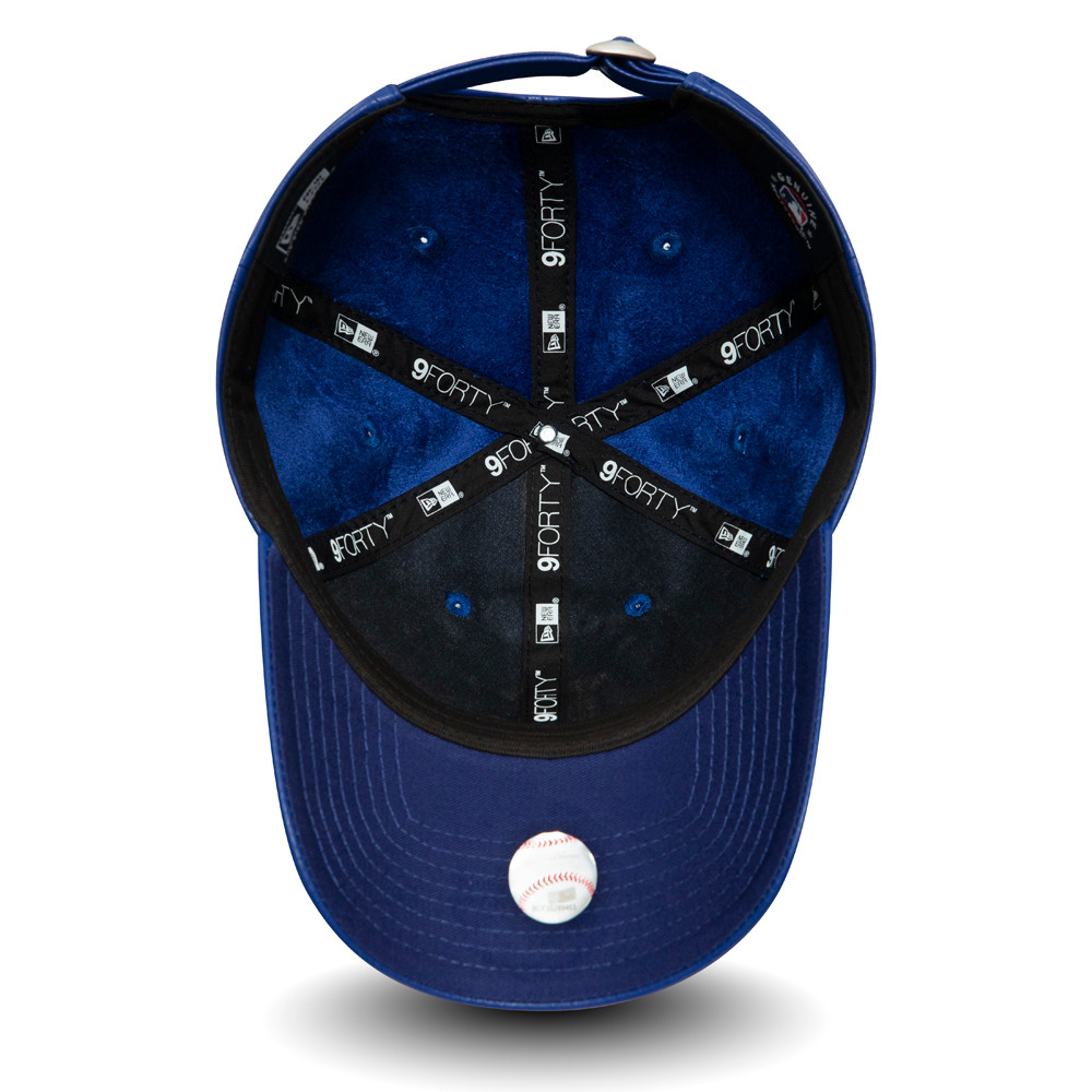 Cappellino LA Dodgers Synthetic Leather 9FORTY blu