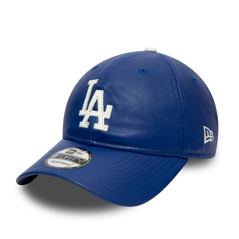 Cappellino Los Angeles Dodgers Synthetic Leather 9FORTY blu