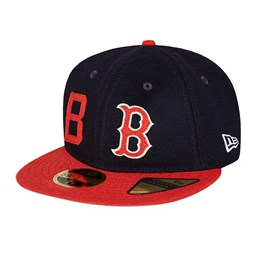 Cappellino Boston Redsox History 59FIFTY blu navy