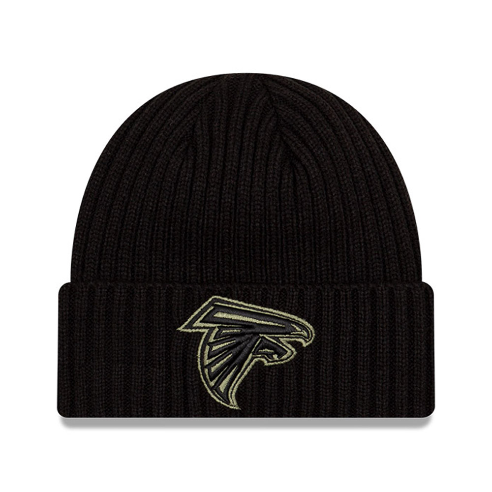 Atlanta Falcons NFL Salute To Service Black Beanie Hat