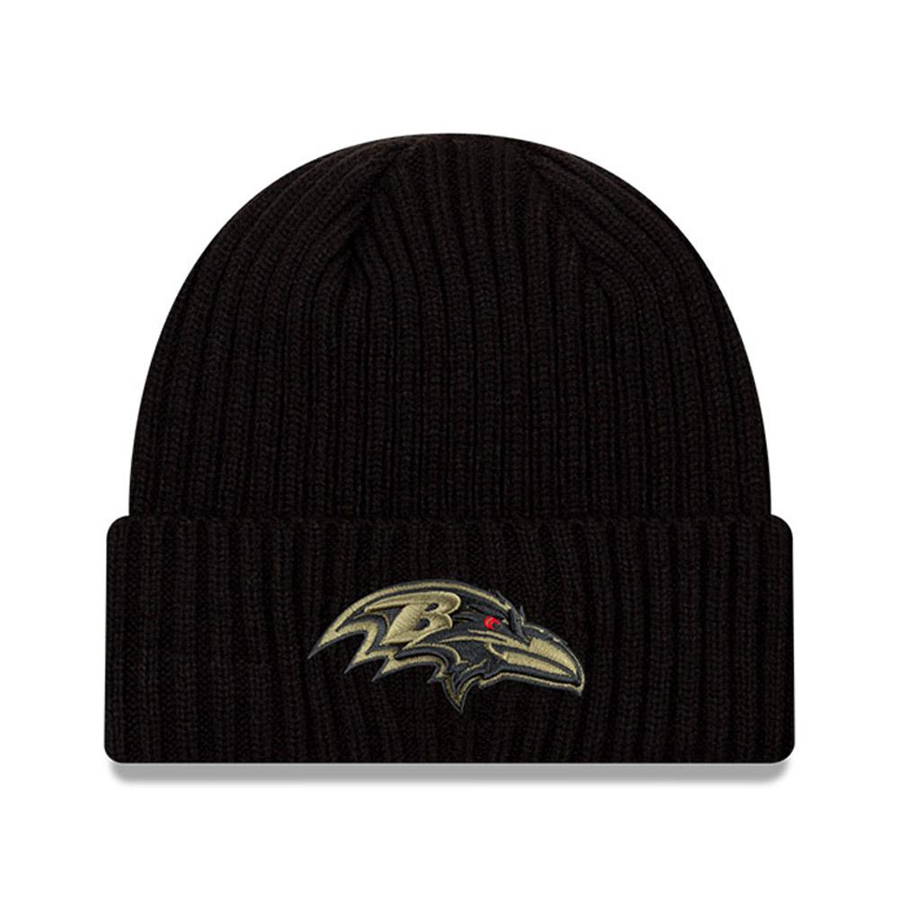 Gorro de punto Baltimore Ravens NFL Salute To Service, negro