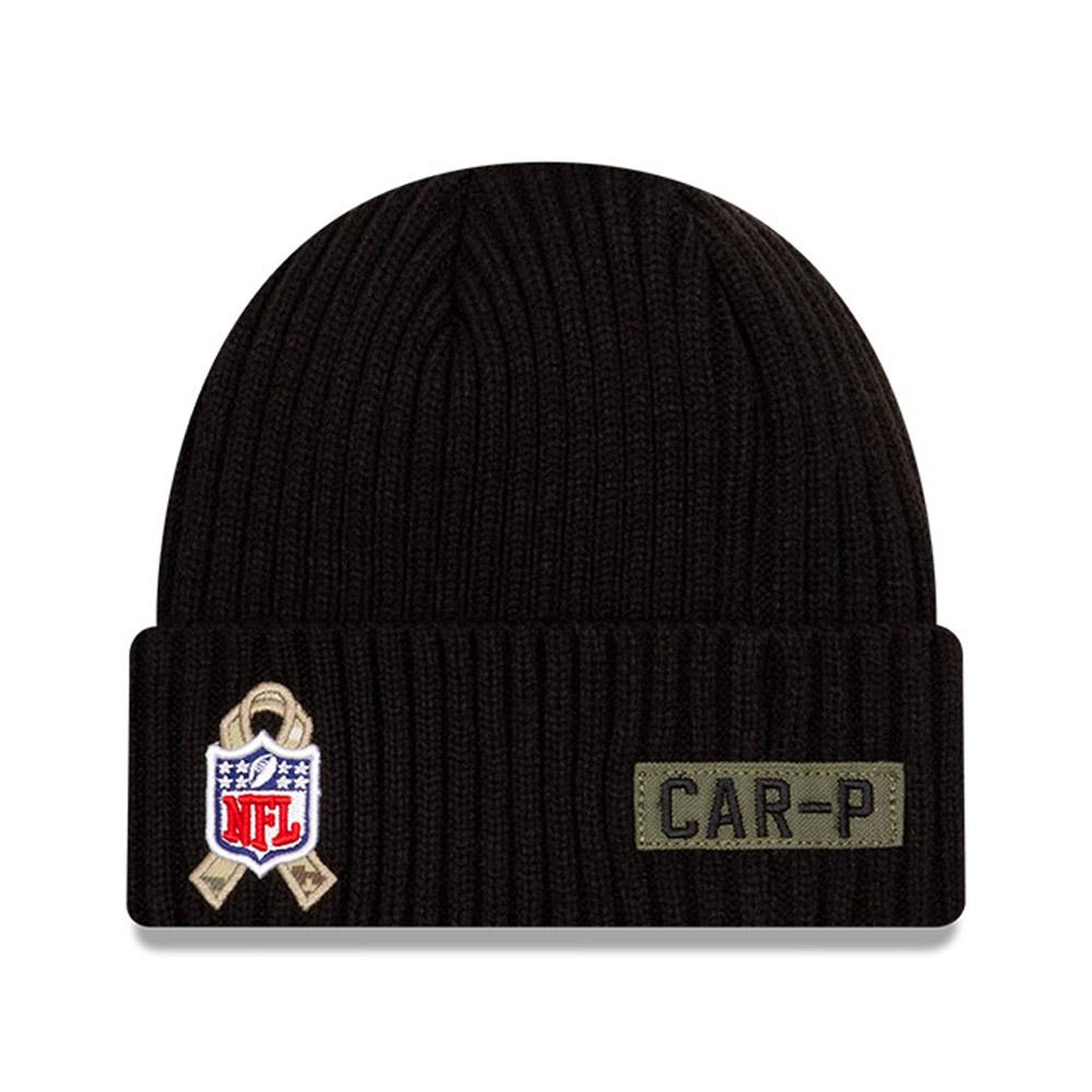 Berretto in maglia NFL Salute To Service Carolina Panthers nero