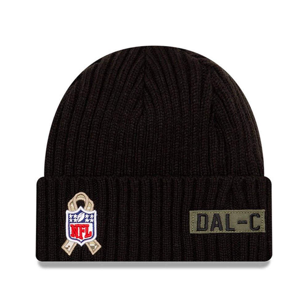 Gorro de punto Dallas Cowboys NFL Salute To Service, negro