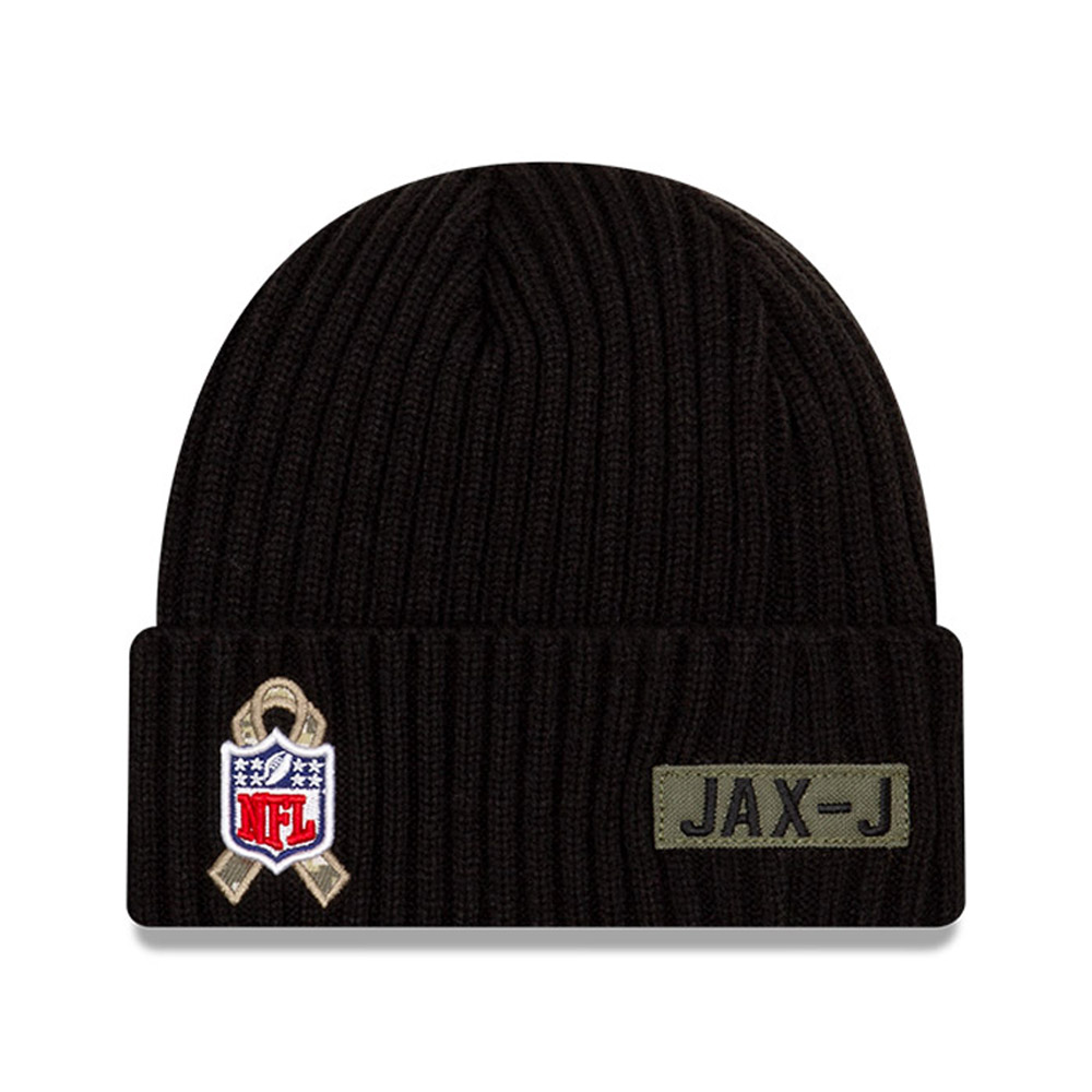 Gorro de punto Jacksonville Jaguars NFL Salute To Service, negro