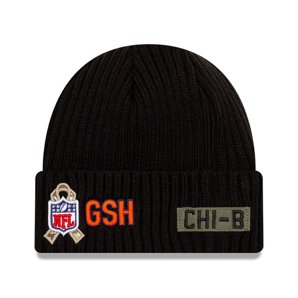 Berretto in maglia NFL Salute To Service Chicago Bears nero