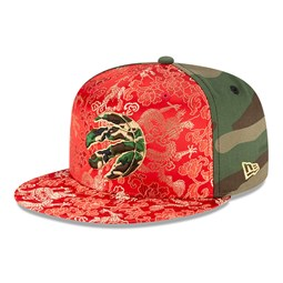 Gorra Toronto Raptors Dragon Camo 100 Years 59FIFTY, verde
