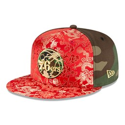 Cappellino Philadelphia 76ers Dragon Camo 100 Years 59FIFTY