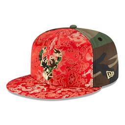 Gorra Milwaukee Bucks Dragon Camo 100 Years 59FIFTY