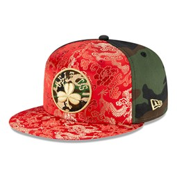 100FIFTY – Boston Celtics – 100 Jahre – Kappe im Drachen-Camouflage-Design