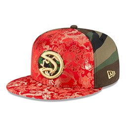 Casquette Dragon Camo 100 Years 59FIFTY des Hawks d'Atlanta