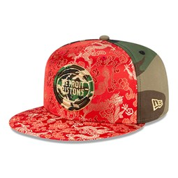 Cappellino Detroit Pistons Dragon Camo 100 Years 59FIFTY