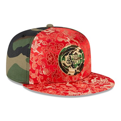Detroit Pistons Dragon Camo 100 Years 59FIFTY Cap