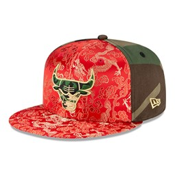 Chicago Bulls Dragon Camo 100 Years 59FIFTY Cap