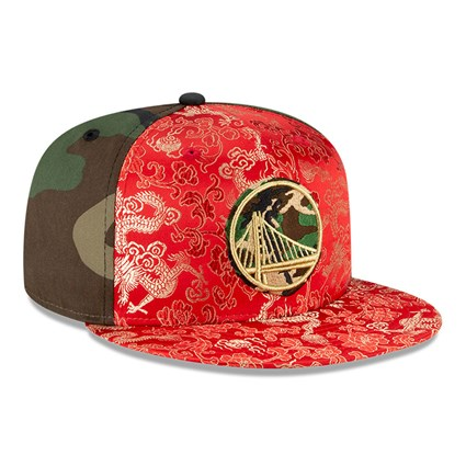 Golden State Warriors Dragon Camo 100 Years 59FIFTY Cap