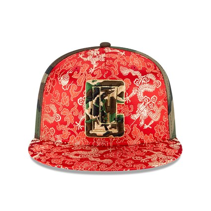 Los Angeles Clippers Dragon Camo 100 Years 59FIFTY Cap