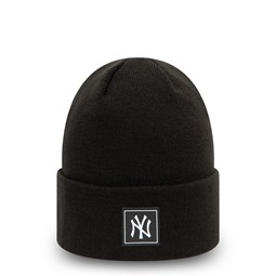 New York Yankees Printed Patch Black Knit