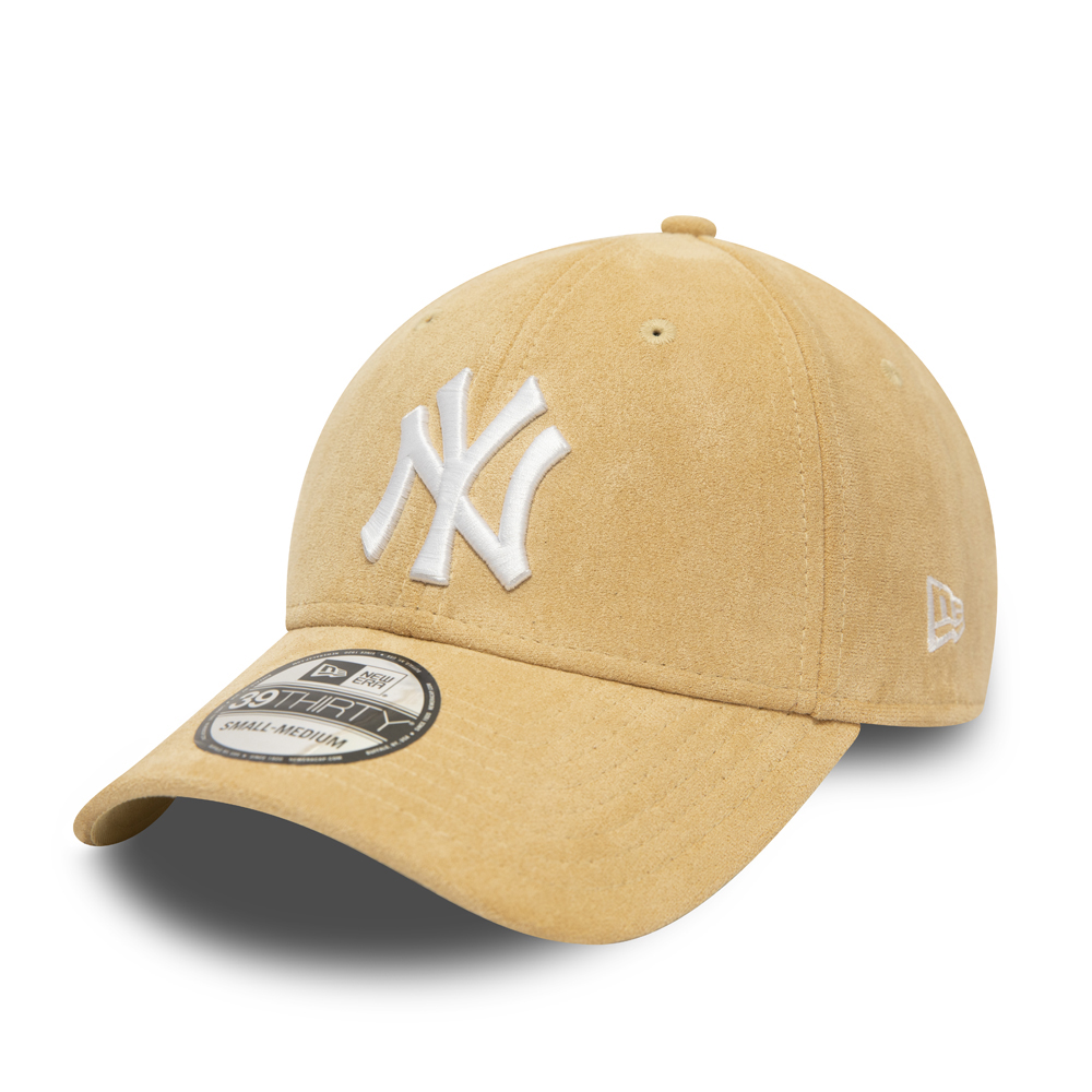 39THIRTY – New York Yankees – Wildlederkappe in Beige mit Logo