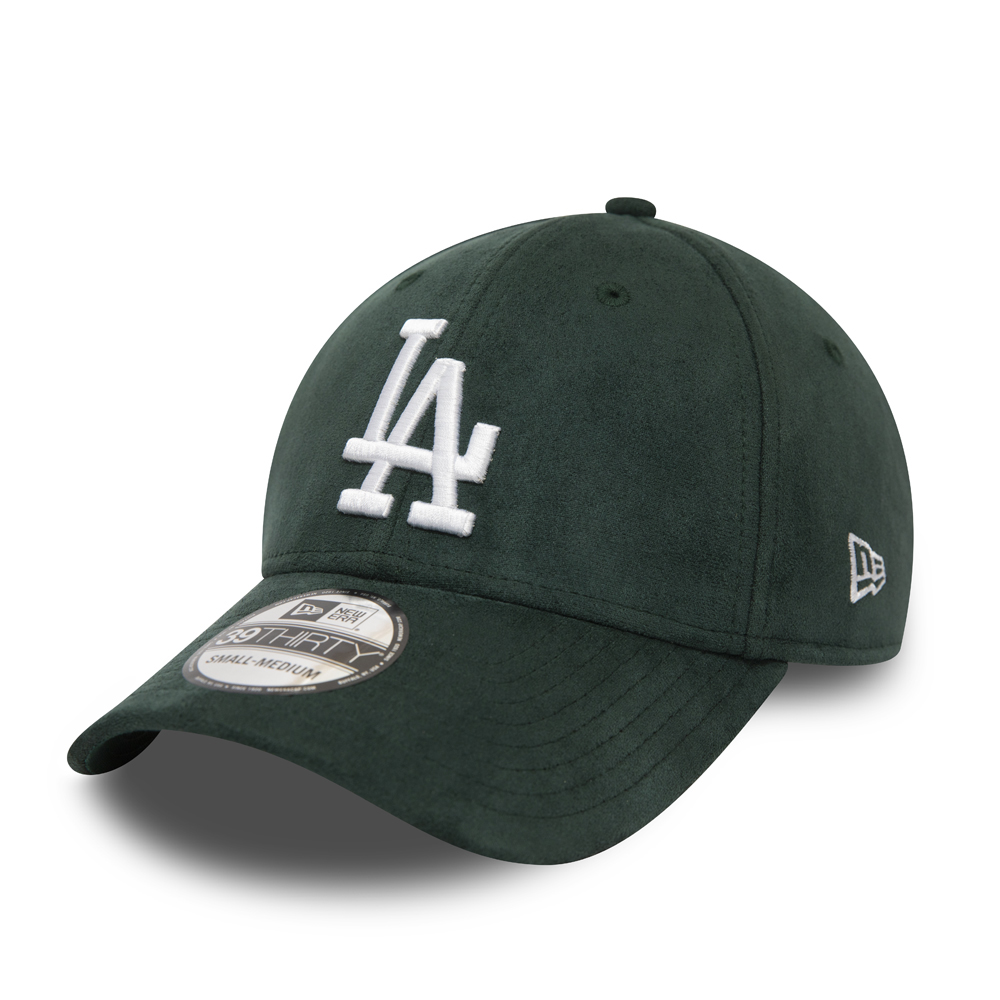 Casquette Los Angeles Dodgers Suede Logo 39THIRTY Vert
