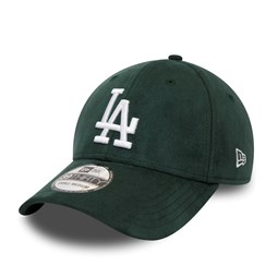 LA Dodgers Suede Logo Green 39THIRTY Cap
