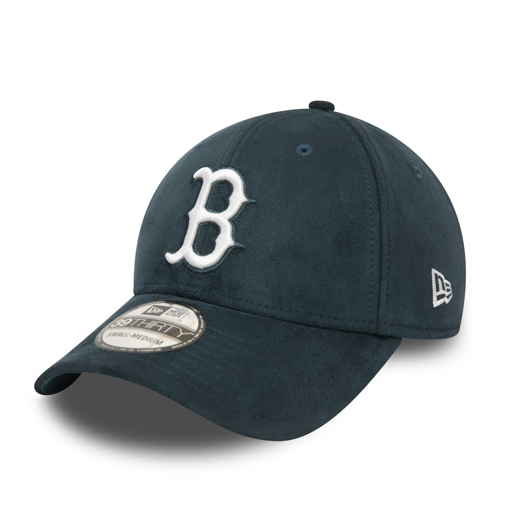 Casquette 39THIRTY en daim bleu sarcelle des Boston Redsox
