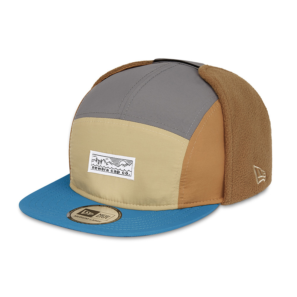 Casquette Camper New Era en micro polaire, marron