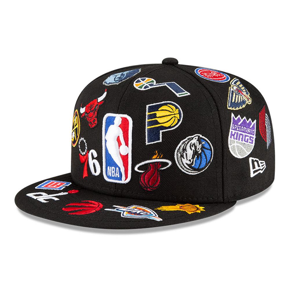 Casquette59FIFTY Logo Badge100 noire de la NBA
