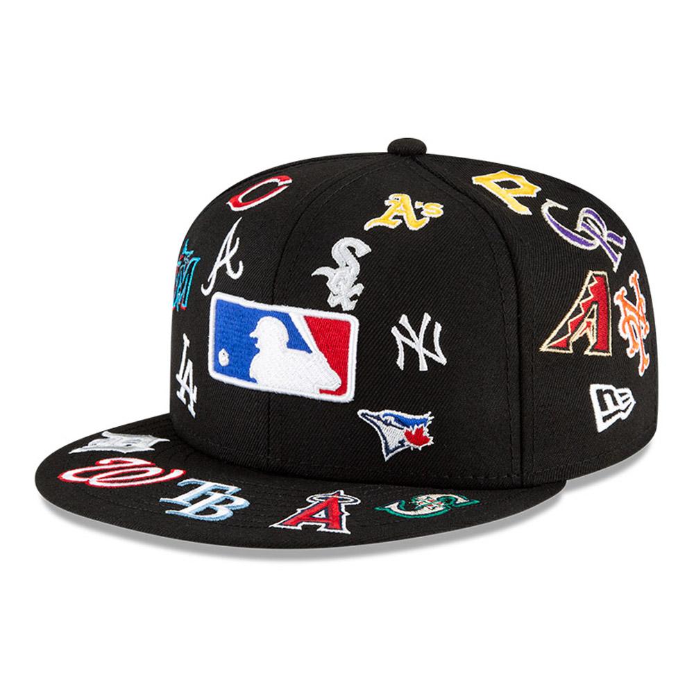 Casquette59FIFTY Logo Badge100 noire de la MLB