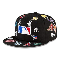 Gorra MLB Logo Badge 100 Years 59FIFTY, negro