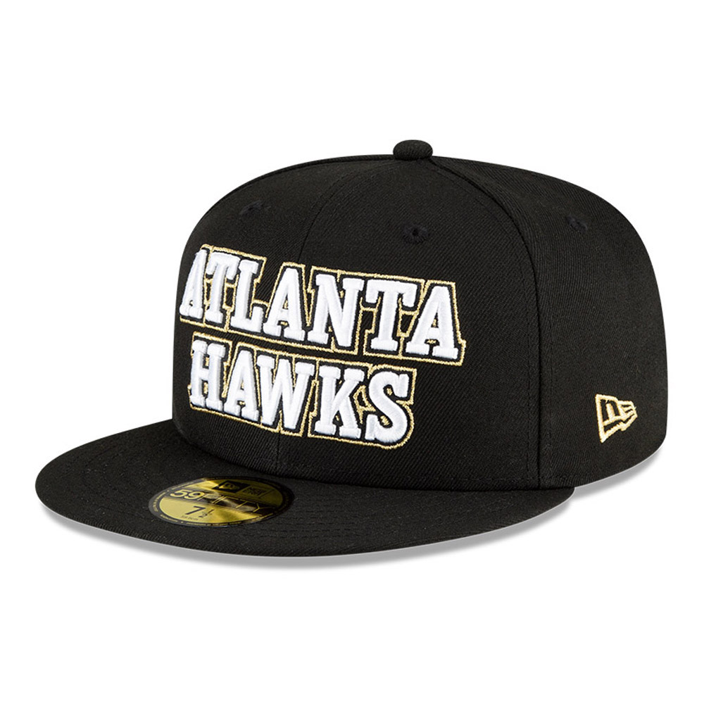 Atlanta Hawks NBA City Edition Black 59FIFTY Cap