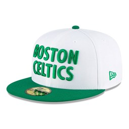 Casquette blanche 59FIFTY NBA City Edition des Boston Celtics