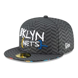 Casquette 59FIFTY NBA City Series des Brooklyn Nets, gris
