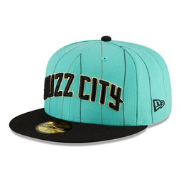 Casquette 59FIFTY NBA City Series des Charlotte Hornets, bleu sarcelle