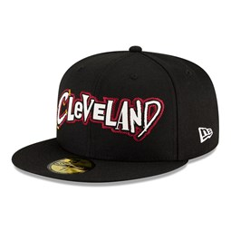 Cleveland Cavaliers NBA City Edition Black 59FIFTY Cap