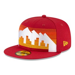 Casquette 59FIFTY des Denver Nuggets de la NBA City Edition, rouge