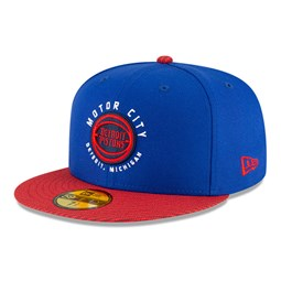 Cappellino 59FIFTY NBA City Edition Detroit Pistons blu