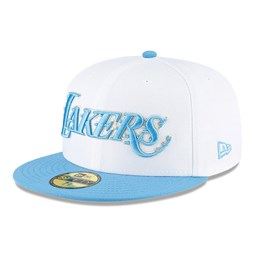 Casquette59FIFTY NBA City Series desLos Angeles Lakers, blanc