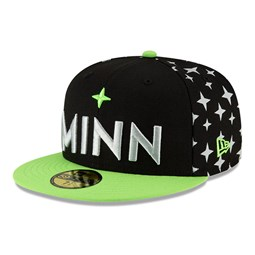 Minnesota Timberwolves NBA City Edition Black 59FIFTY Cap