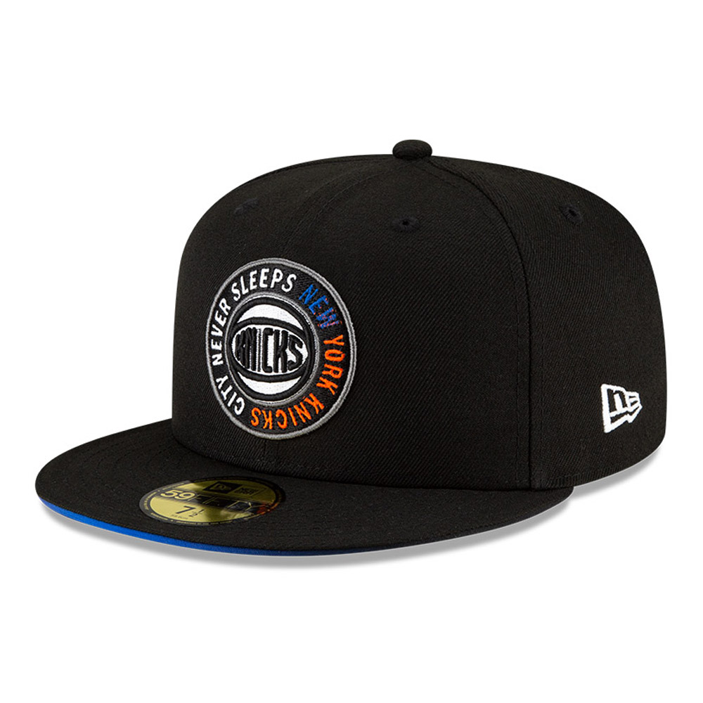 Casquette noire 59FIFTY NBA City Edition des New York Knicks