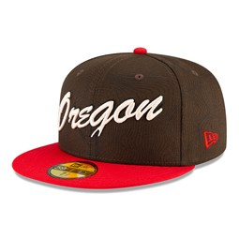 Portland Trailblazers NBA City Edition Brown 59FIFTY Cap