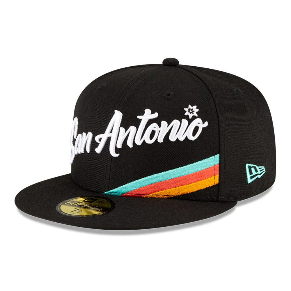 San Antonio Spurs NBA City Edition Black 59FIFTY Cap