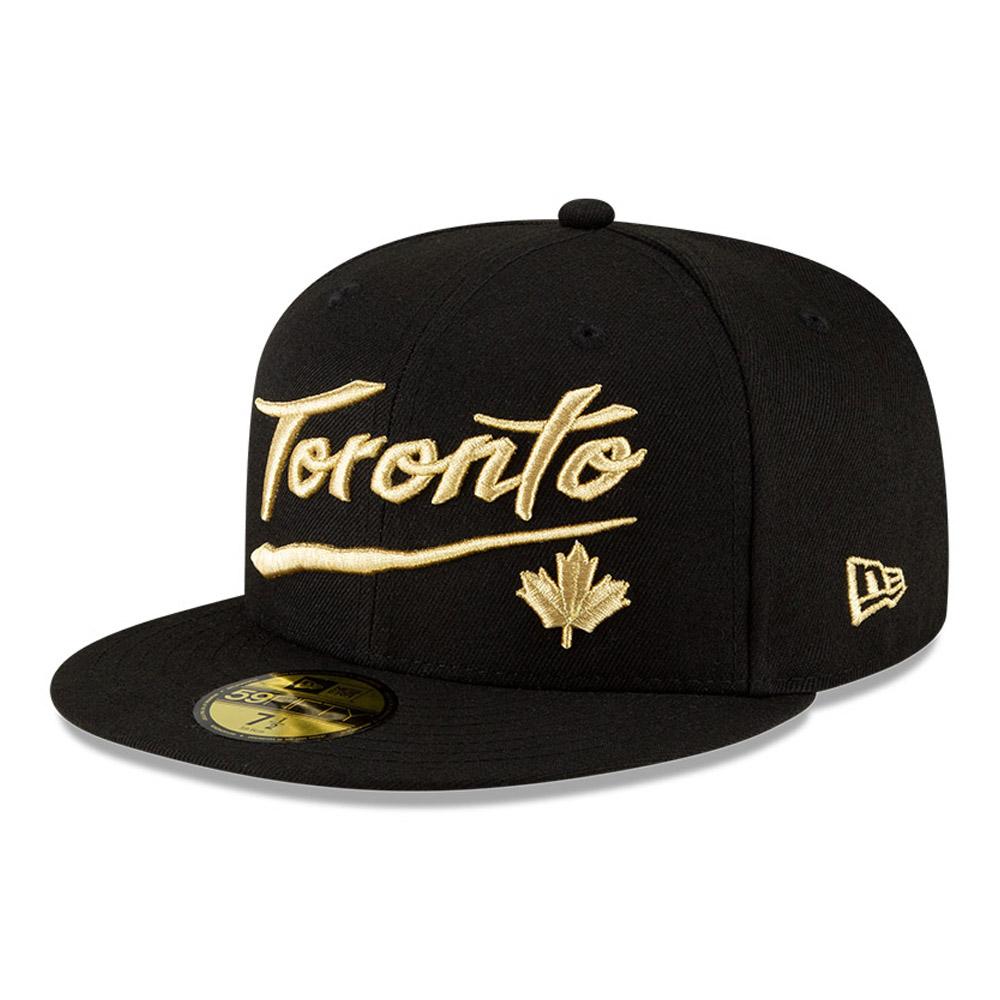 Gorra Toronto Raptors NBA City Edition 59FIFTY, negro