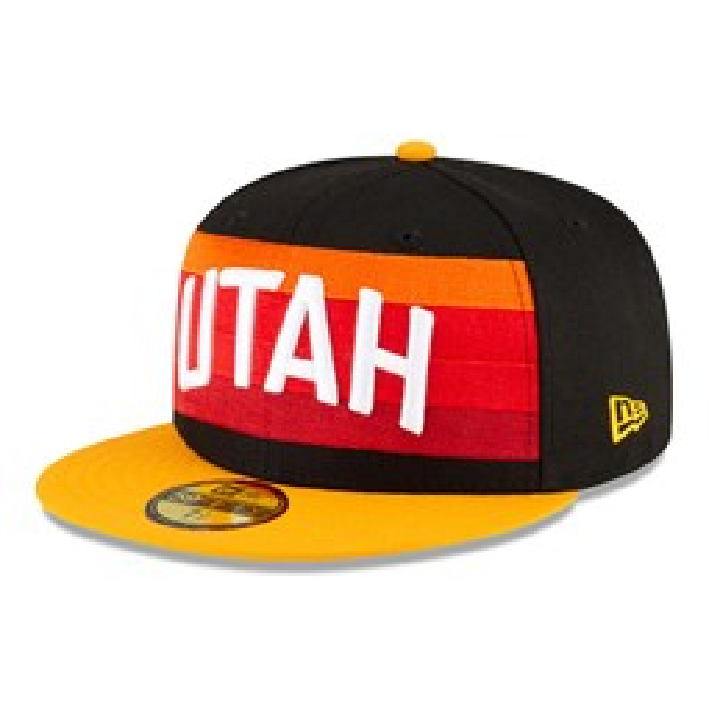 Utah Jazz NBA City Edition Black 59FIFTY Cap