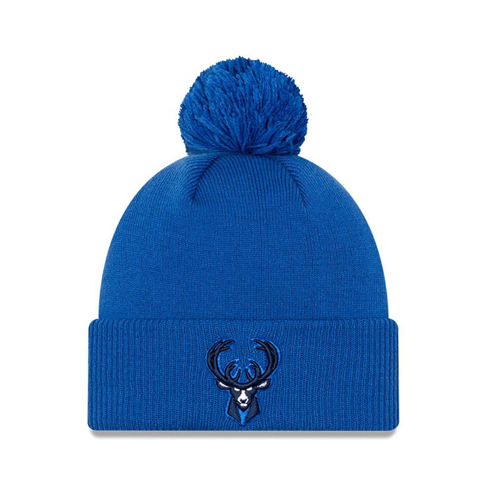 Berretto di maglia NBA City Edition Milwaukee Bucks blu