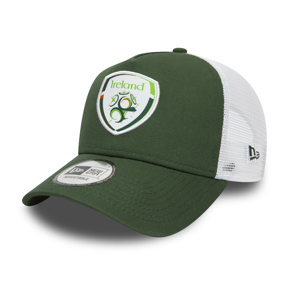 Gorra trucker A-Frame FA Ireland Cotton, verde