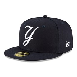 Casquette 59FIFTY des Yankees de New York MLB Ligature, bleu marine